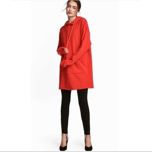 H&M women's red hoodie dress